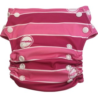 Innate Stay-dry AIO Cloth Diaper - Pink Stripes
