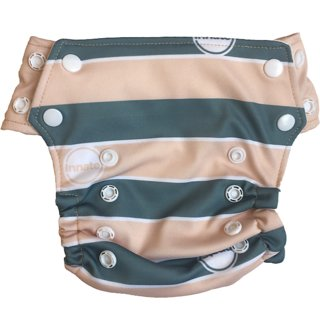 Innate Stay-dry AIO Cloth Diaper - Cream Stripes