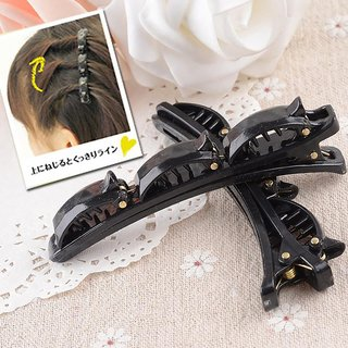 Maahal Pack Of 2, Double Layer Band Twist Plait Clip Front Hair Clips, Hairpin Headband Beauty Tool Hair Accessories fo