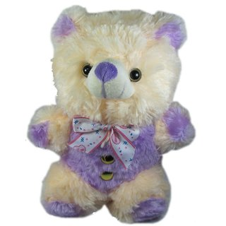 Tickles Cream Blue Raja Teddy Stuffed Soft Plush Toy Teddy Bear 21 cm T377