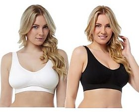 combo pack of 2 ladies air bra slim lift sport bra no straps no clips