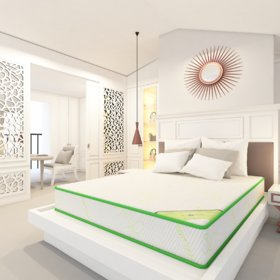 Bamboo Cairo Single Size, 4 Inches Dual Comfort   Reversible Mattress With Foam (2 Years Warranty) -BCAIS-4_72 X 30 X 4
