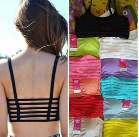 Nandini 6 Strap  fancy padded Bra imported Assorted Color