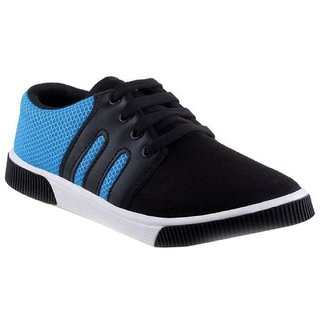 Hotstyle Blue Canvas PVC Smart Casual Lace-up Sneakers For Men