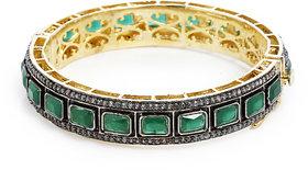 Anesh Green Ethnic Traditional Designer Brass Gold Rhodium Bracelets Bangles kadas for Girls and Women