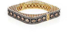 Anesh Golden Ethnic Traditional Designer Brass Gold Rhodium Bracelets Bangles kadas for Girls and Women