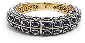 Anesh Blue Ethnic Traditional Designer Brass Gold Rhodium Bracelets Bangles kadas for Girls and Women