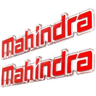 Carmetics Mahindra 3d Stickers 3d Emblems 3d logo badge styling accessories for XUV 500 Roof Rails  Rails RED 2 PCS