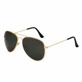 HH UV Protected Aviator Unisex Sunglasses (Black Lens)