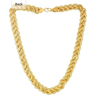 Item Name  Xoonic's Gold plated chain necklace 10 mm thick/20 Inch Long chain for Men /Boys -XCFL10