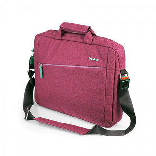 Dasfour Unisex Hi-Style Oxford Office Laptop Bag Messenger 14.1, Punch Pink