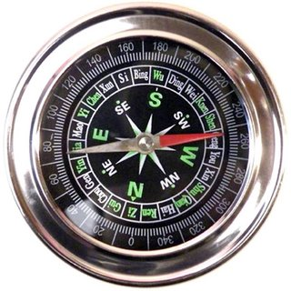 PRODUCTMINE Big Compass Stainless Steel Directional Military Magnetic Compass ( 7.3 Cm ) For Feng Shui / Travel