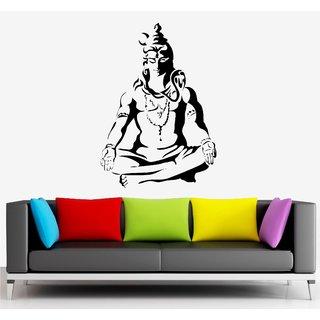Asmi Collections PVC Wall Stickers Meditating God Shiva