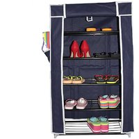 House of Quirk 5 Layer Multipurpose Shoe Rack Portable Shoerack Metal Shoe Stand  (Blue, 5 Shelves)