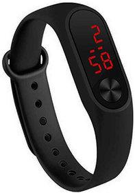 Varni Retail Rubber Magnet New LedBlack Digital Watch M2 LED RED - For Boys  Girls