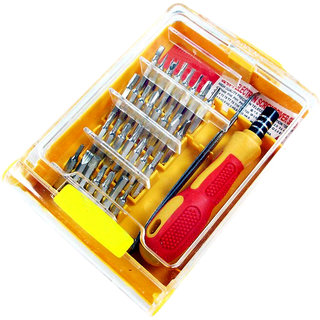 Shopper52 Multi purpose 32 Pieces Square Jackly Screwdriver Socket Set and Bit Wrench Tool Kit Set Combination Tool