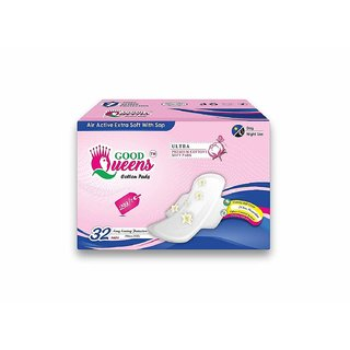 Radhika Good Queens Cotton Pads Sanitary Pads - 32 Pieces (XL Plus)