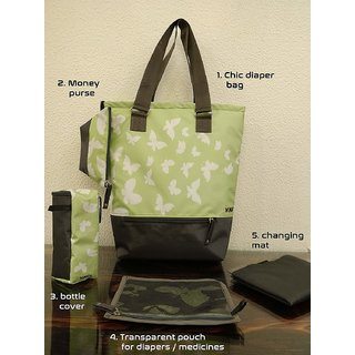 Vouch Tyra Stylish Mother Bag Green