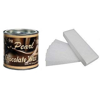 Chocolate Wax with 30 Waxing Strips (600 g)