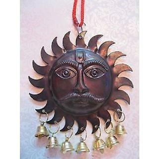 Astro Guruji Surya sarva dosh nivaran, Sun for vastu Feng Shui evil black eye hanging / copper surya bell