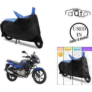 Bike Body Cover for  Bajaj Pulsar 150  ( Black  Blue )