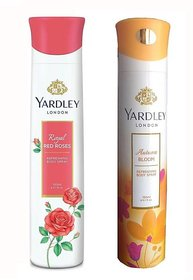 Yardley London Royal Red Roses And Autumn Bloom Deodorant Body Spray - (150 ml each, pack of 1)