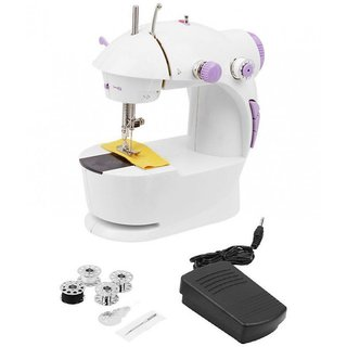 4 in 1 Mini Sewing Machine with Foot Pedal Bobbins Adapter
