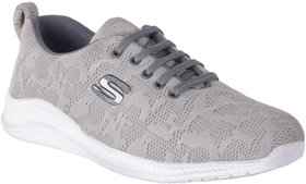 Evolite Gray Mesh TPR Sports Shoes For Men