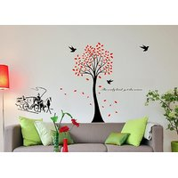 Asmi Collection Wall Stickers Wall Decals Tree Carriage Birds