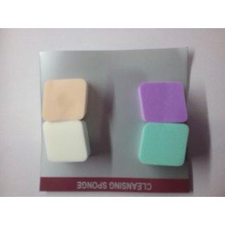 Facial Sponge Makeup Clean Wash Pad Soft Scrub Cosmetic Puff /small/4pc