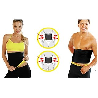 Unisex Tummy Tucker Hot Tummy Shaper Neoprene Belt by UNIQUE STORE - Black