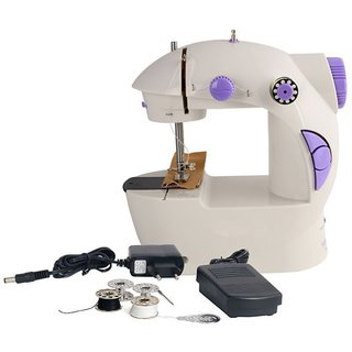 4 in 1 Mini Electric Sewing Machine with Foot Pedal Bobbins Adapter
