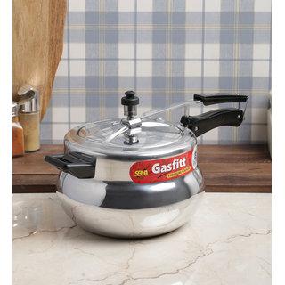 Gasfitt Handiya Aluminium 5.5 Ltr. Pressure Cooker-Inner Lid