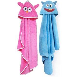 brandonn Multi-Colour Terry cloth Towel cum blanket ( 91 cm 66 cm 2 pcs )