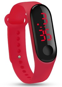 FARP Digital led watch band type red colour mens watch boys watch