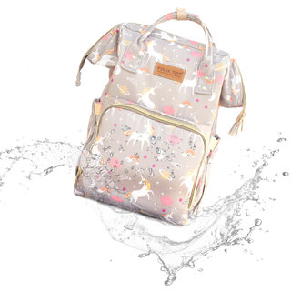 Polka Tots Stylish Waterproof Multifunctional Babies Diaper Bag for Mothers for Travel Nappy Tote Backpack Diaper Bag/Baby Bag/Mummy Bag/Handbag large capacity (Unicorn Design BAG)