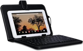 I Kall Keyboard Case for All 7 inch Tablets, Inbuilt Keyboard Stand case And Micro Usb Cable  (Black)