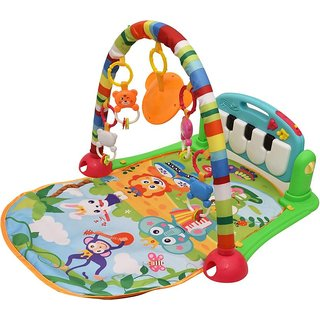 SHRIBOSSJI Musical Kick and Play Multi-Function High Grade Plastic Piano Baby Gym and Fitness Rack (MULTICOLOR)