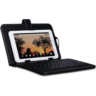 I Kall Keyboard Case for All 8 inch Tablets, Inbuilt Keyboard Stand case And Micro Usb Cable Assorted Colour