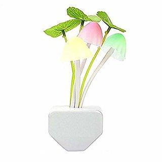 Mushroom Automatic Sensor LED Color Changing Wall Light 1 Night Lamp  (13.5 cm, Multicolor)