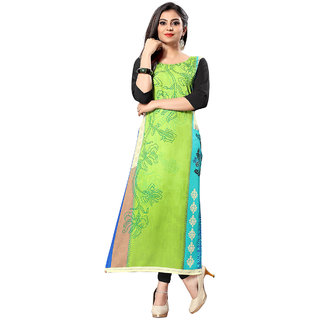 Ticknmart Women's New Arrival Latest Multicolour Digital Printed Officewear Full Stitched Kurti