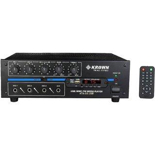 Krown KTA-55U PA Amplifier with Bluetooth, USB Player, 3 Mic Input (50W RMS)