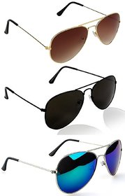 Pack of 3 Aviator Sunglasses