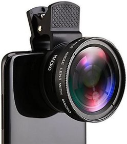 De-TechInn Universal Black 0.45X Super Wide Angle Macro Lens Clip On Professional Mobilephone camera Lens for Smartphone