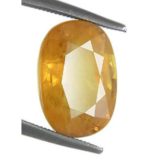 Yellow sapphire Stone Unhetaed & Untreated Stone Pukhraj 5.25 ratti Loose Gemstone By CEYLONMINE