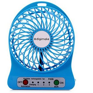Digimate Mini Portable USB Rechargeable Speed Fan With Manufacturer Warranty Of 3 Months
