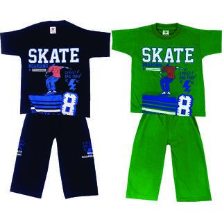 Om Shree Boys Half T-shirt Pant (Pack of 2)