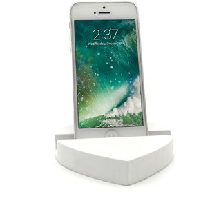 Heart Design Mobile Phone Stand / Holder For Smartphone (White)