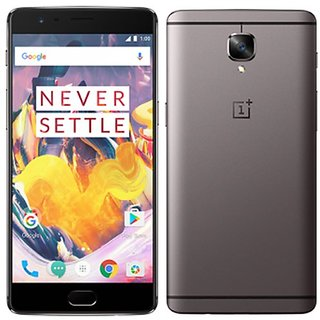 OnePlus 3T (Gunmetal, 6GB RAM + 64GB memory)(Refurbished)(1 Year Warranty Bazaar Warranty)