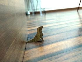 JaamsoRoyals Dog Design Small Non-Slip wooden Door Stoppers - To Stop Or Jam the Doors